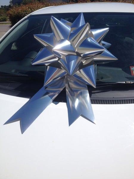 Car Bow - Silver | Queen Regal Bow | Bowzz Bows