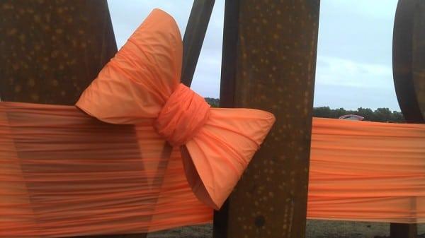 Orange Custom Bow for Land Sale | Tiffany Bow |