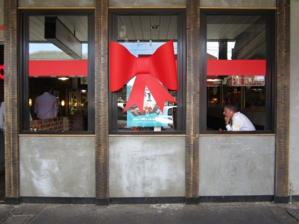 Red Custom Bow for Restaurant Opening | Tiffany Bow |