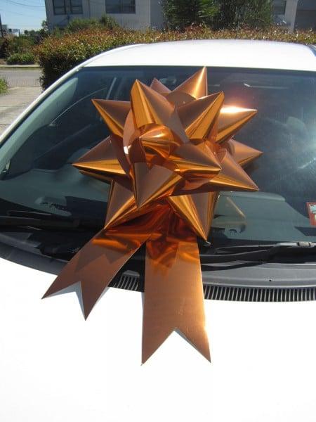 Car Bow - Orange | Queen Regal Bow | Bowzz Bows