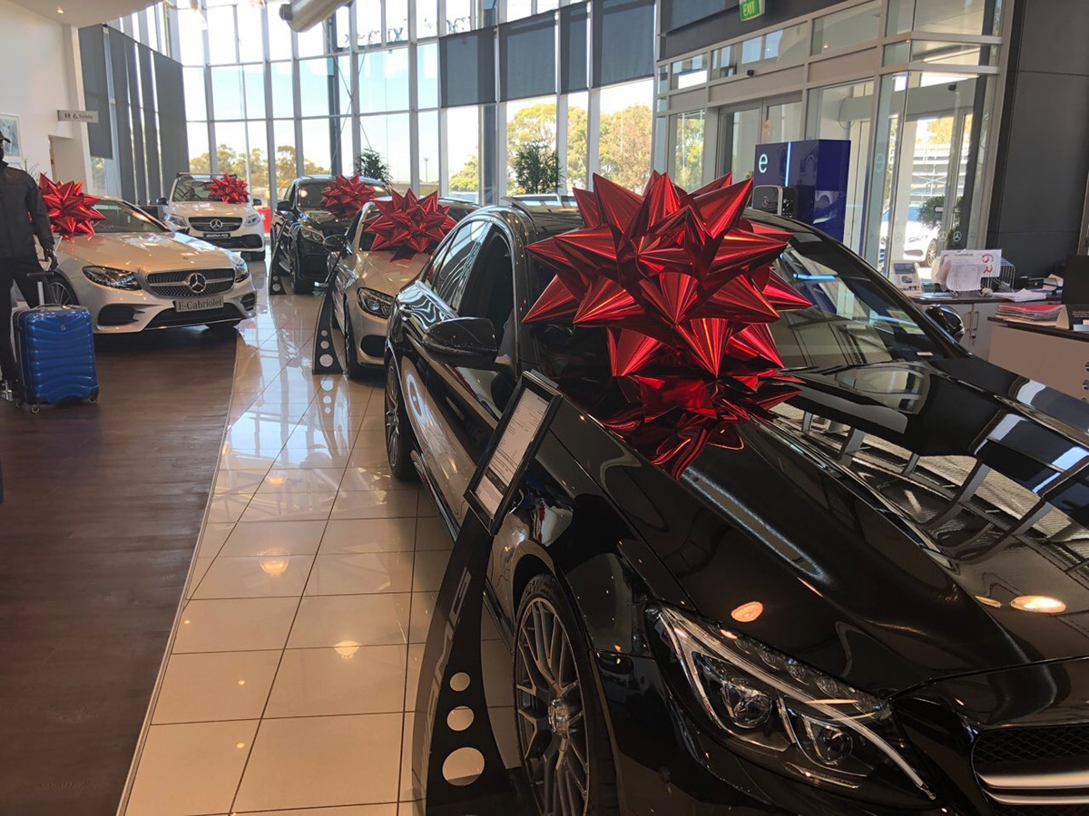 Mercades Benz Melbourne Airport   Christmas Sale   Car Dealership   Car Christmas Event