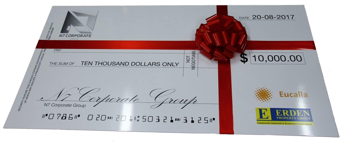 Novelty Cheque Bow | Big Red Bow | Bow Melbourne