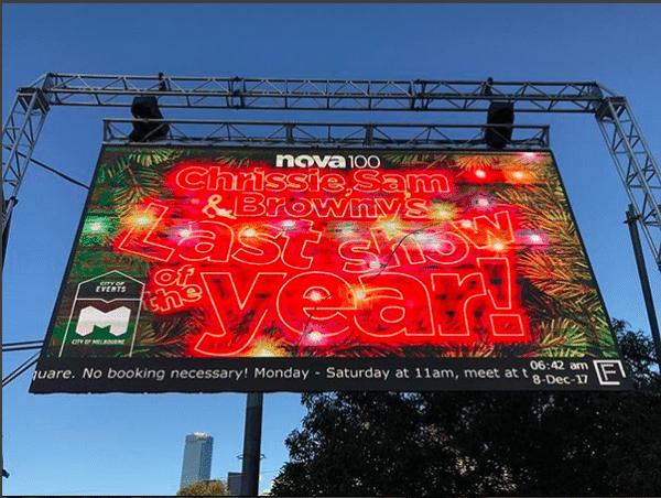 Chrissie, Sam and Brownie Final Show | Big Bow | Radio Statio | Made for Melbourne | Fed Square