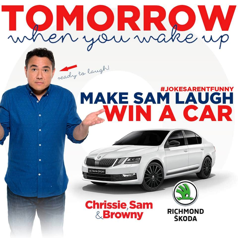 Big Red Bow Car Giveaway | Nova 100 | Big Red Bow | Car Giveaway | Nova 100 | Chrissie, Sam and Brownie | Richmond Skoda