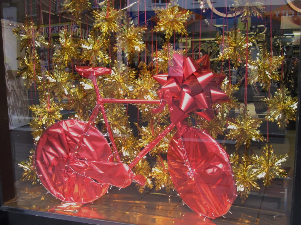 Huge Bow | Large Bow | Big Red Gift Bow | Huge Bows | Christmas Bow | Large Red Bow | Giant Bow | | Push Bike Gift | Bicycle Sale | Big Red Bow | Storefront display
