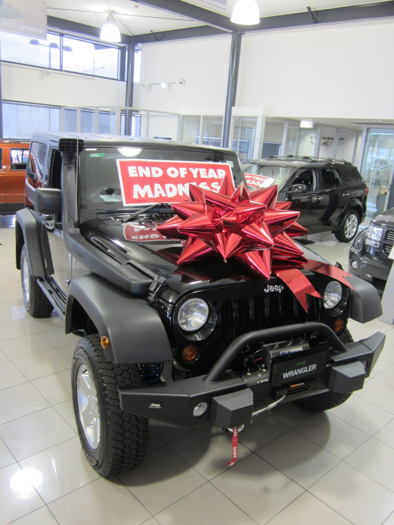 Jeep Bow | Big Red Bow | Buy a Big Bow