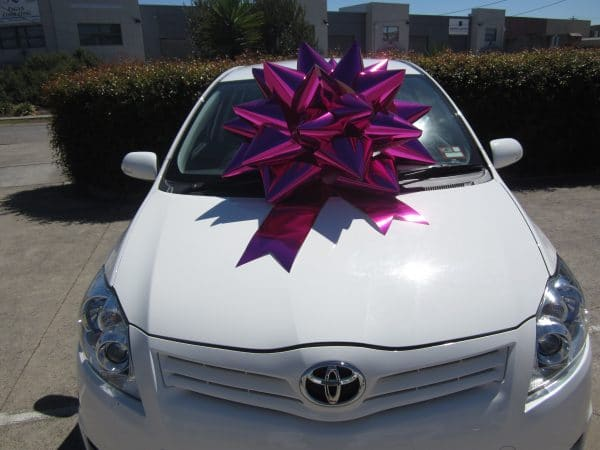 Buy a big bow | Big Pink Bow | Car Bow | Bow for Toyota Corolla